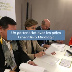 Un partenariat avec les pôles<br/> Tenerrdis & Minalogic