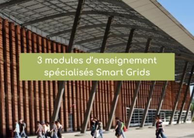 3 modules d'enseignement spécialisés Smart Grids